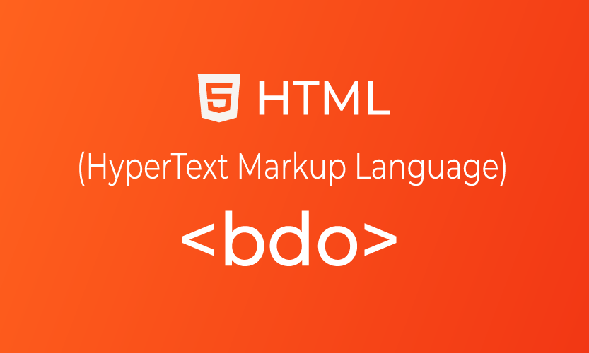 HTML bdo tag | belajar <bdo> element