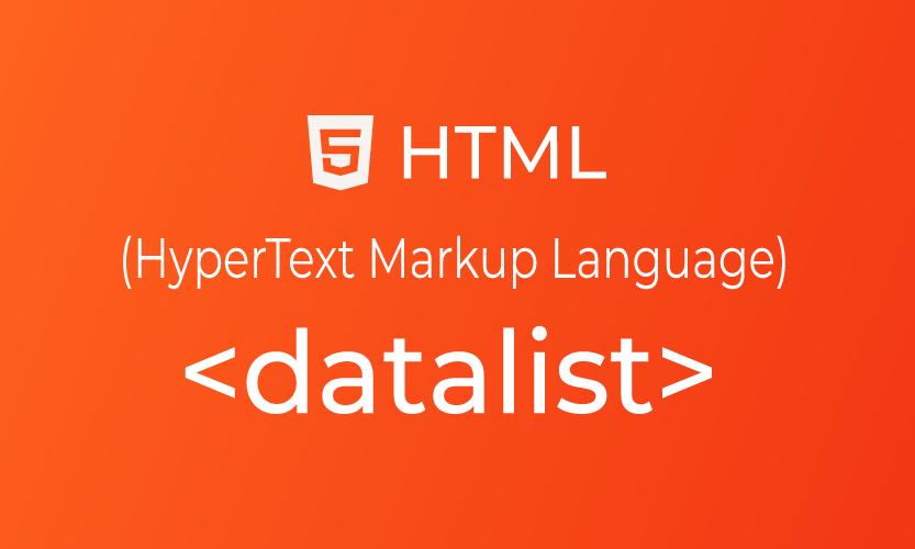 HTML datalist tag | belajar <datalist> element