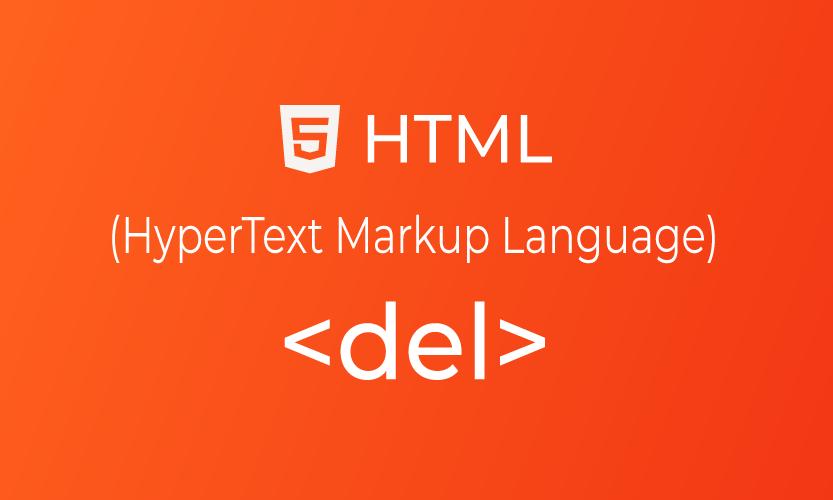 HTML del tag | belajar <del> element