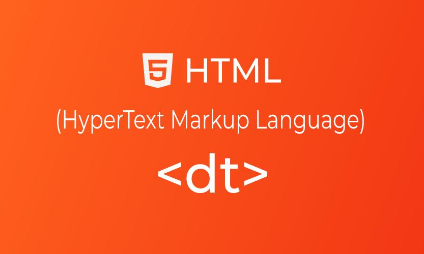 HTML dt tag   belajar <dt> element
