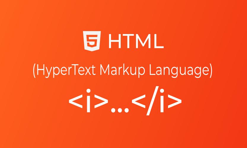 HTML i tag | belajar <i> element