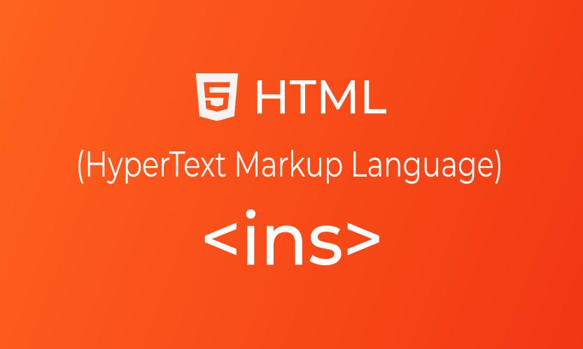 HTML ins tag | belajar <ins> element