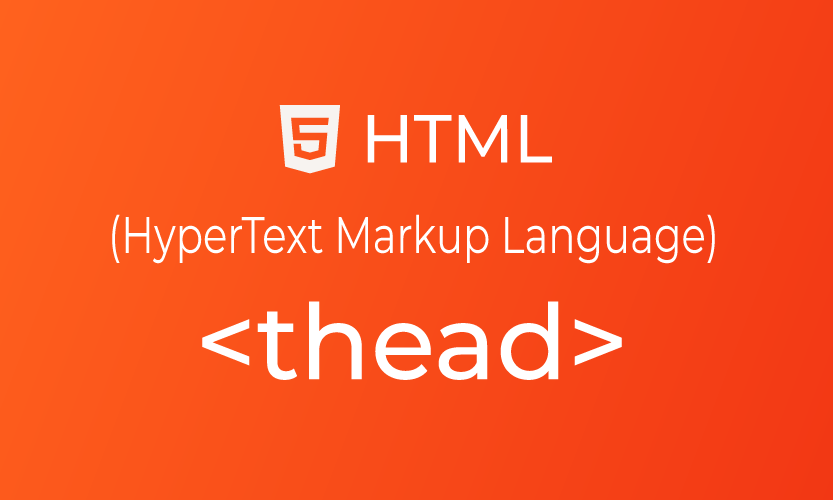 HTML thead tag | belajar <thead> element